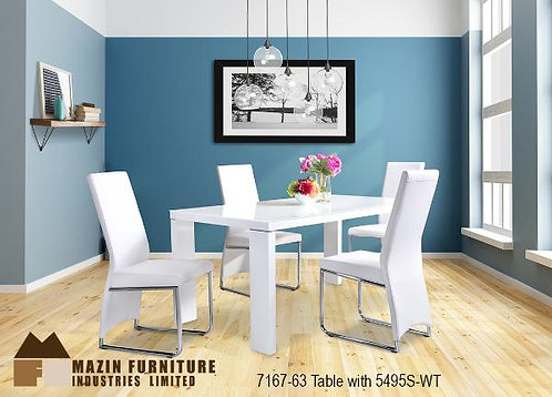 Fran Collection White Dinette Table