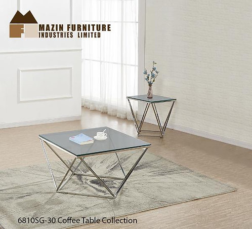 Colin Collection Coffee Table w/ Smoked Grey Glass