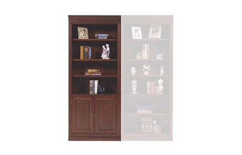 """Classic Cherry 32"""" Bookcase W Doors"""