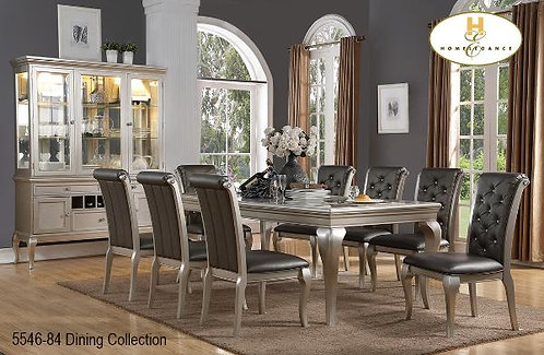 Crawford Collection Silver Dining Table