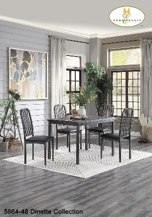 Contemporary Dinette Table w/ PVC Top