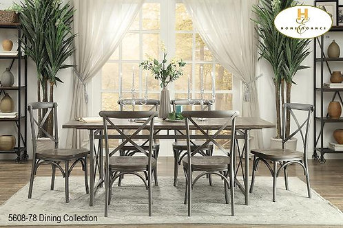 Wood and Metal Dining Collection Side Chair