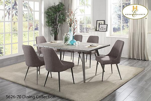 Palladium Collection Elm veneer & Metal Legs Dining Table