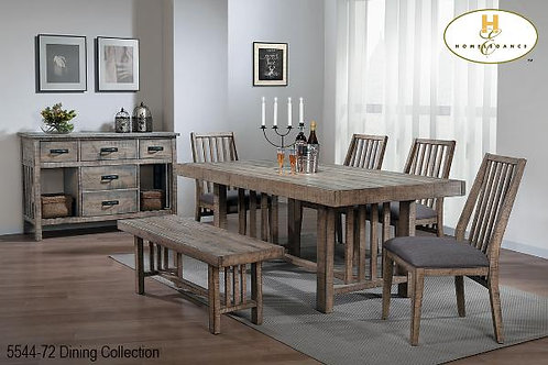 Rustic Barn Wood Distressed Dining Collection