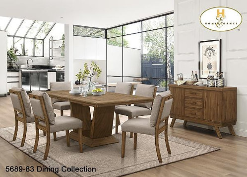 Contemporary Dining Collection Dining Table w/Self Storing Leaf