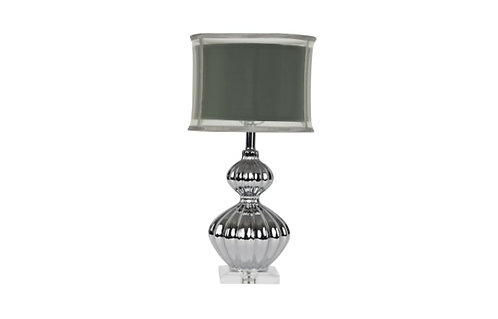 """24"""" Silver Fluted Table Lamp"""