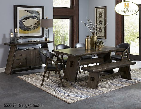 Live Edge Dining Collection Fixed Top Dining Table