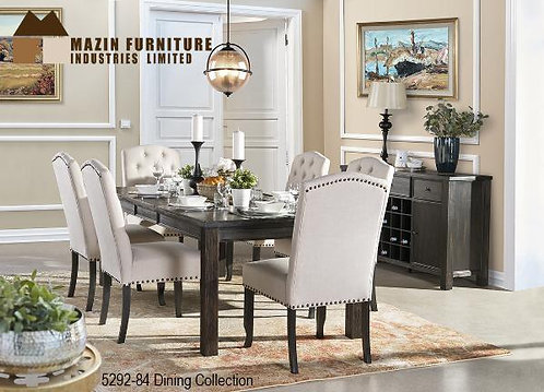 Contemporary Dining Collection w/ Beige Parson Chairs
