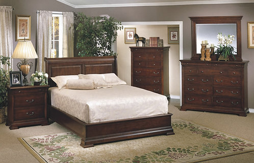 Classic Cherry Sleigh Bed