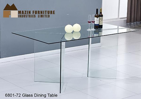 Ewan Collection All Glass Dining Table