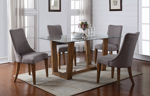 "Capri 70"" Glass Top Table"