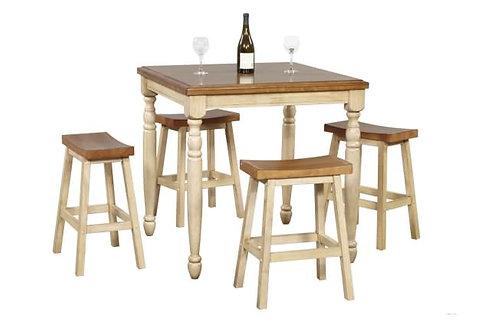 "Quaint Retreat 36"" Square Tall Table"