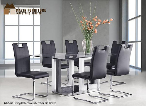 Yves Collection High Gloss Laminate Base Dining Table