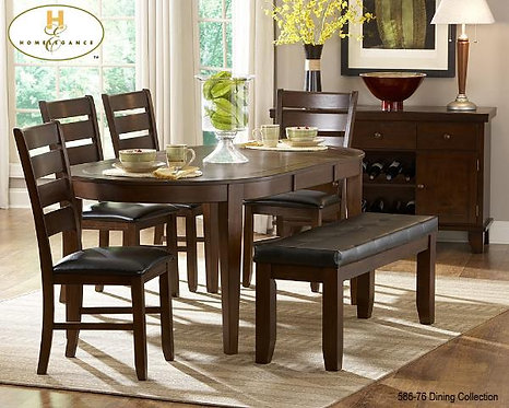 Ameillia Collection Oval Table with Butterfly Leaf