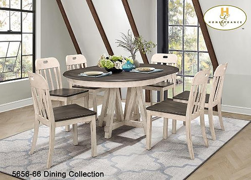 Casual Country Dining Collection Round Dining Table w/Extension