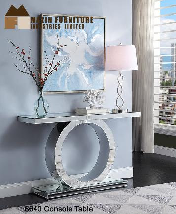 Orlando Collection Mirrored Console Table