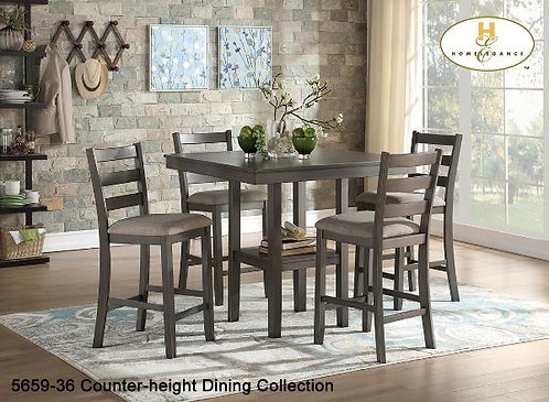 5pc Pack Counter-height Dining Collection