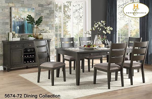 Contemporary dining Collection Espresso Counter-Height Dining Table