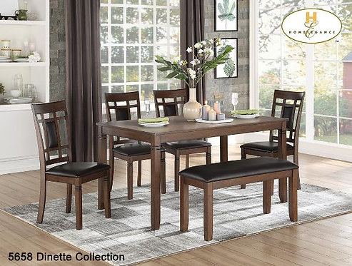 6pc Pack Dinette Collection