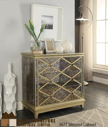 Harlequin Collection Mirrored 3 Drawer Cabinet