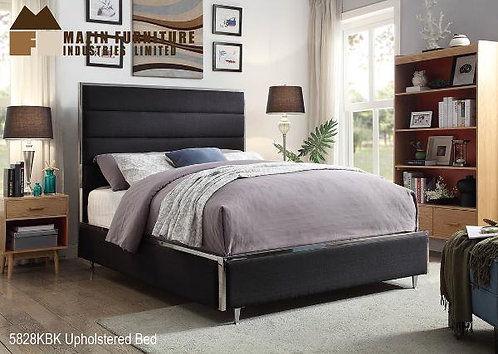 Upholstered Bed Black Fabric