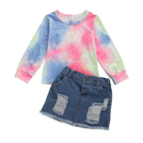 Tye dye Skirt Set
