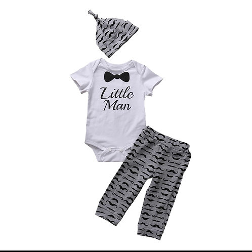 Little Man 3 Piece Pants Set