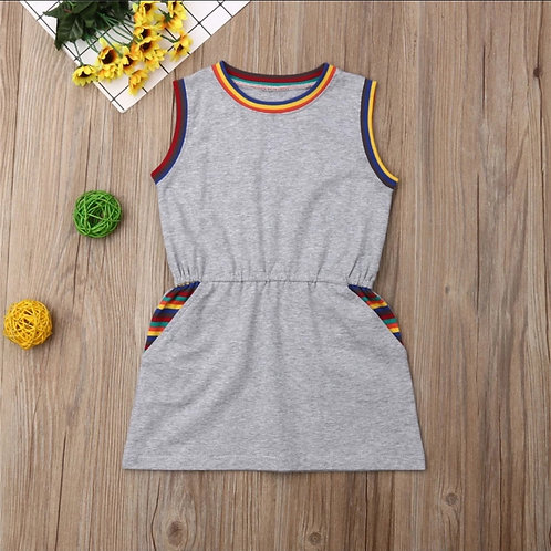 🌈 Rainbow Sleeveless Dress