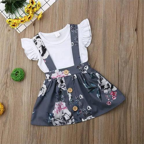 2 Pc Floral Dress Set