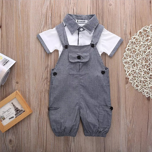Gray Cotton Jumpsuit