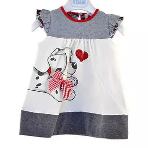 Girls Cotton Dalmatian Dress