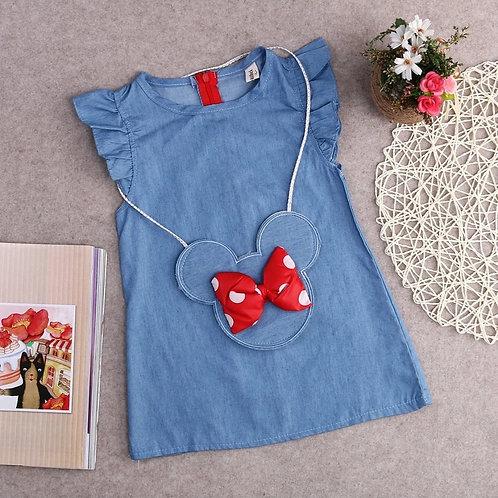 Denim Dress w/Minne Mouse Purse❤💙