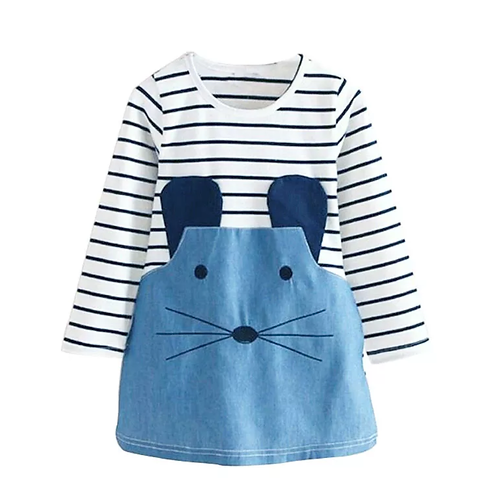 Girls Mouse Striped Dress