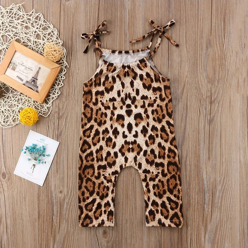 Leopard Print Sleeveless Romper