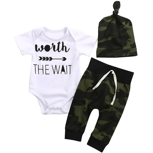 Worth the Wait Bby Boy 3pc Set