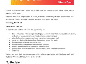 NorQuest College Virtual Open House