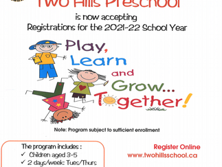 Two Hills Preschool is Accepting Registrations for 2021-22