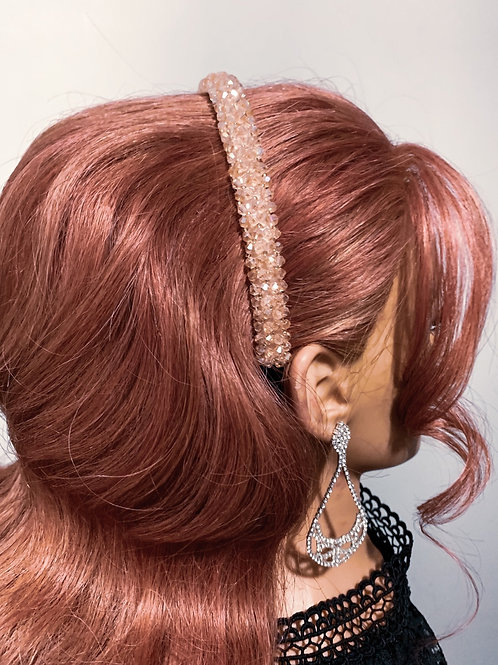 Sweet pink studded Hair Band