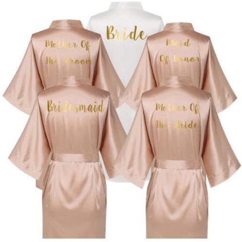 Rose Gold Satin Wedding Robes