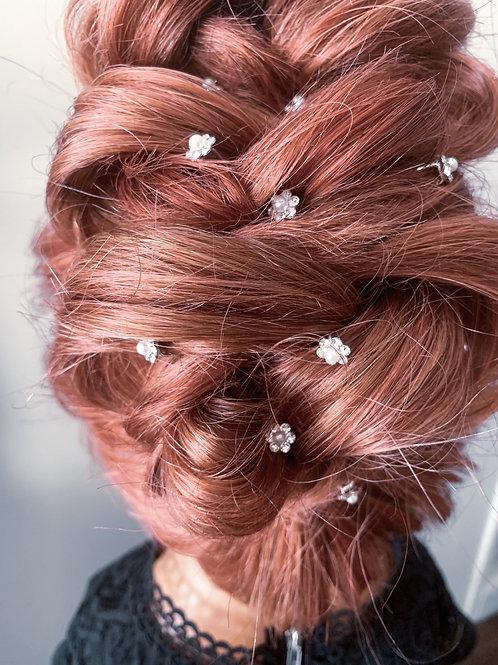 2 Spoke Silver Hair Pins (20pk)