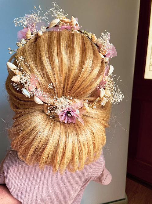 Shell, flower and Pearl Crown