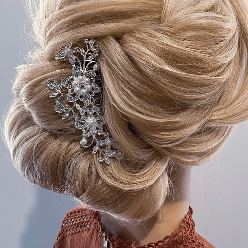 """Bridal """"Loved up"""" Crystal silver Hair Comb"""