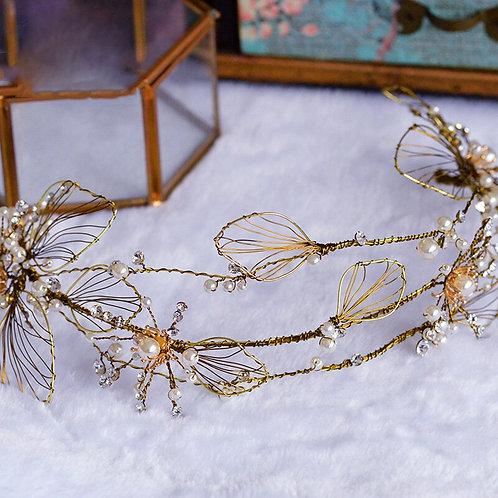 Vintage Gold Leaf Handmade Crown