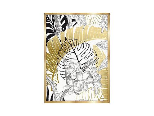 Framed Picture Golden Leaves