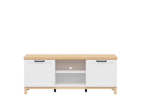 White light oak Scandinavian style tv stand