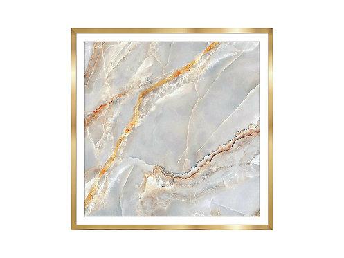 Framed Picture Golden Marble 2