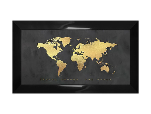 Framed Picture World Map