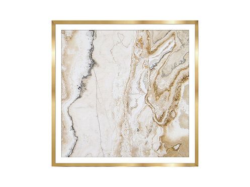 Framed Picture Golden Marble