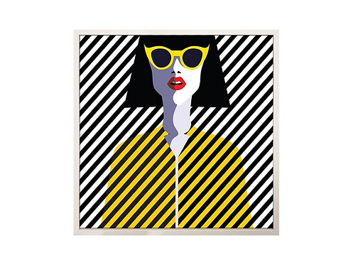 Framed Picture Yellow Sunglasses