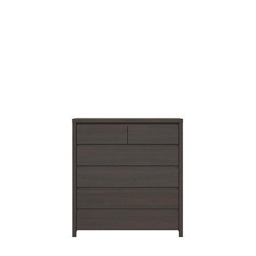 Dark brown dresser with 6 drawers